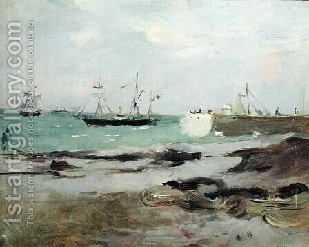 The Entrance to the Port of Boulogne 1880 by Berthe Morisot - Reproduction Oil Painting