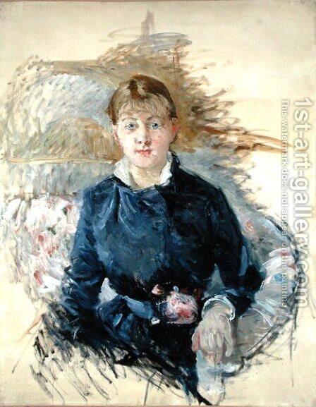Portrait of Louise Riesener 1881 by Berthe Morisot - Reproduction Oil Painting