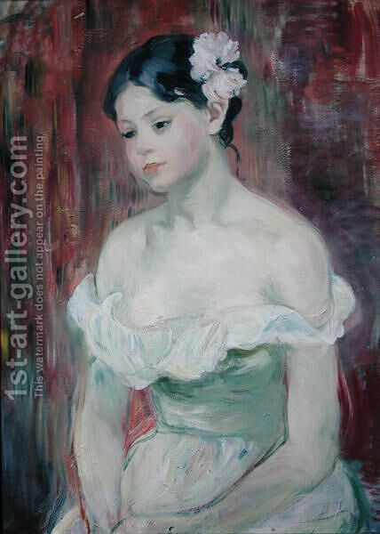A Young Girl 1893 by Berthe Morisot - Reproduction Oil Painting