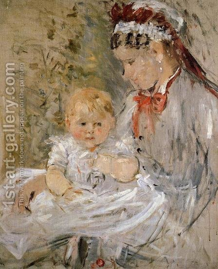 Julie Manet and her Nurse by Berthe Morisot - Reproduction Oil Painting