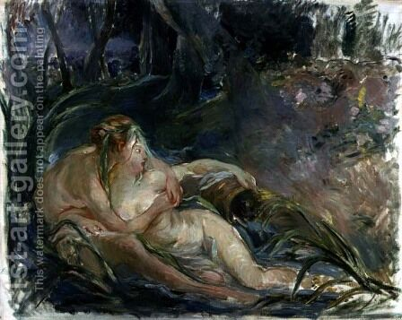 Jupiter and Callisto, after a painting by Boucher by Berthe Morisot - Reproduction Oil Painting