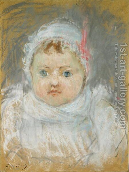 Blanche Pontillon as a Baby, 1872 by Berthe Morisot - Reproduction Oil Painting