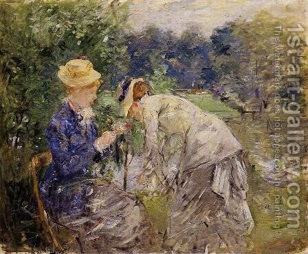 In the Bois de Boulogne by Berthe Morisot - Reproduction Oil Painting