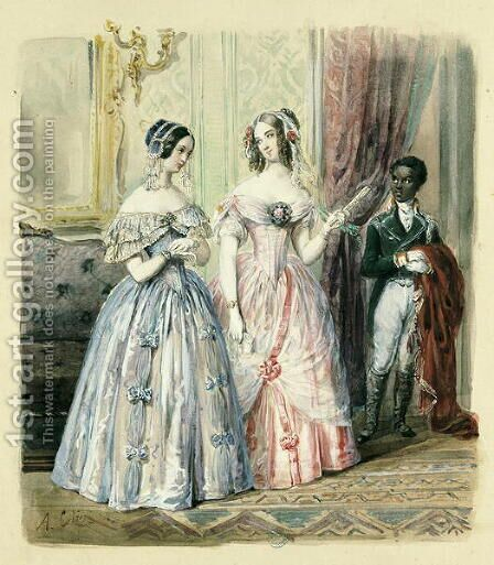 Leaving for the Ball  1830-48 by Alexandre-Marie Colin - Reproduction Oil Painting