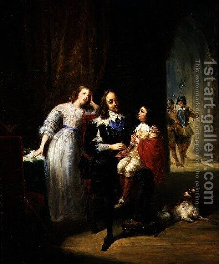 Charles I (1600-49) awaiting trial, Prince Henry (1640-60) by Alexandre-Marie Colin - Reproduction Oil Painting