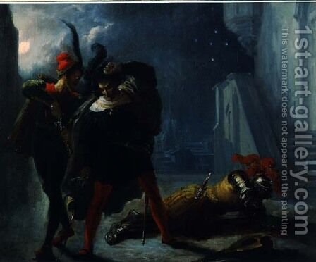 Death of Valentin by Alexandre-Marie Colin - Reproduction Oil Painting