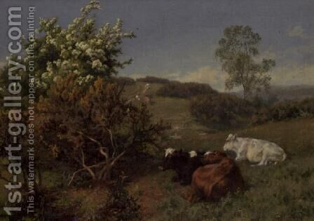 In the Nower  Dorking by Charles Collins - Reproduction Oil Painting
