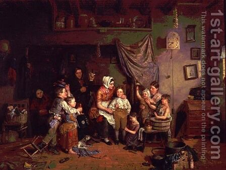 The Charity Boy's Debut by James Collinson - Reproduction Oil Painting
