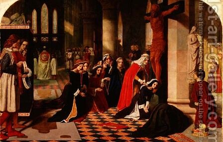 The Renunciation of Queen Elizabeth of Hungary, 1850 by James Collinson - Reproduction Oil Painting