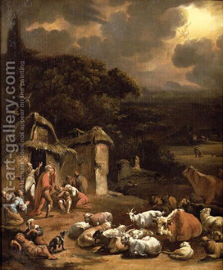 The Annunciation to the Shepherds by Adam Colonia - Reproduction Oil Painting