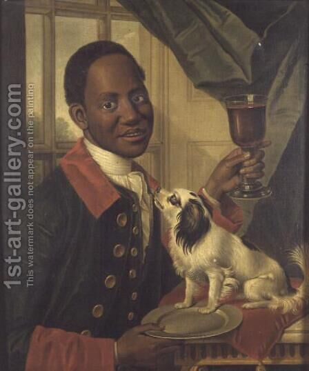 A Black Servant  c.1770 by Anonymous Artist - Reproduction Oil Painting
