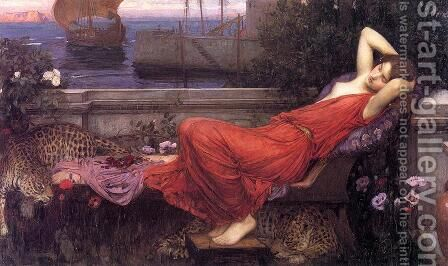 Ariadne  1898 by Waterhouse - Reproduction Oil Painting