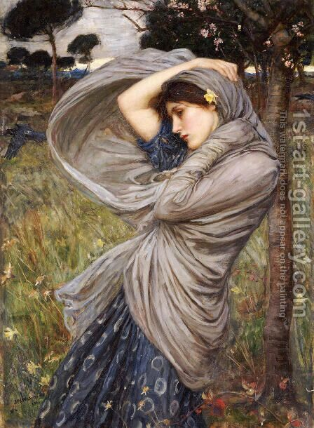 Boreas  1903 by Waterhouse - Reproduction Oil Painting