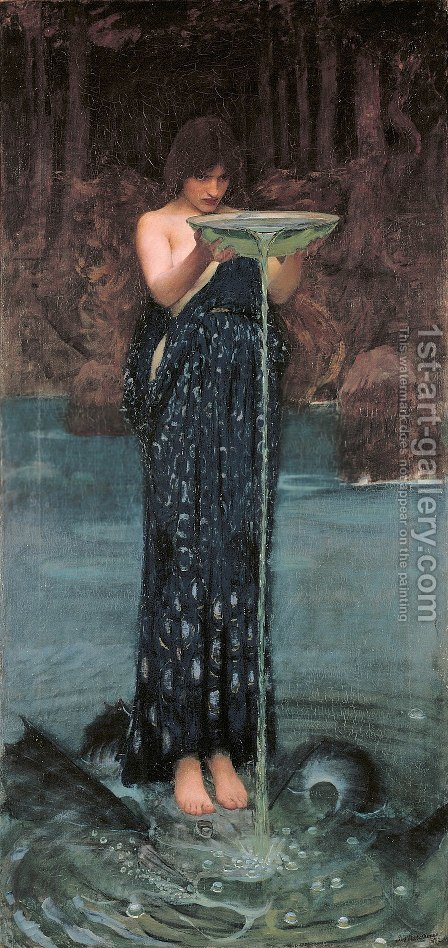 Circe Invidiosa  1892 by Waterhouse - Reproduction Oil Painting