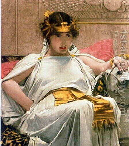 Cleopatra  651888 by Waterhouse - Reproduction Oil Painting