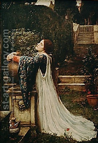 Isabella and the Pot of Basil  1907 by Waterhouse - Reproduction Oil Painting