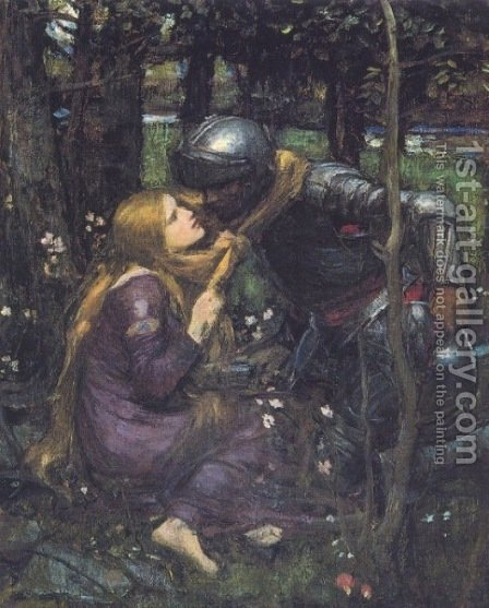 La Belle Dame Sans Merci study  1893 by Waterhouse - Reproduction Oil Painting