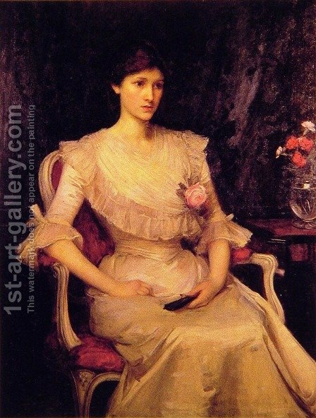 Miss Margaret Henderson  1900 by Waterhouse - Reproduction Oil Painting