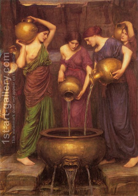 The Danaides  1904 by Waterhouse - Reproduction Oil Painting