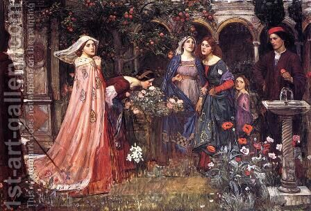 The Enchanted Garden  1916 by Waterhouse - Reproduction Oil Painting