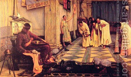 The Favourites of the Emperor Honorius  1883 by Waterhouse - Reproduction Oil Painting