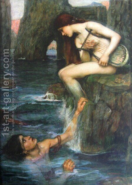 The Siren  1900 by Waterhouse - Reproduction Oil Painting