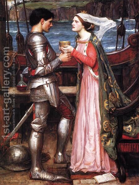 Tristram and Isolde  1916 (2) by Waterhouse - Reproduction Oil Painting