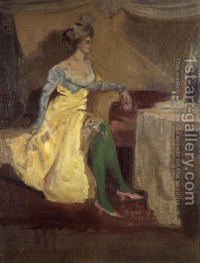 The Green Stockings by Charles Edward Conder - Reproduction Oil Painting