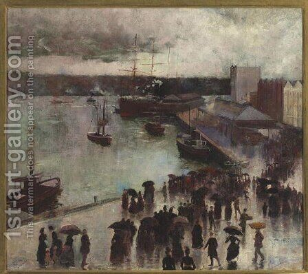 Departure of the Orient - Circular Quay, 1888 by Charles Edward Conder - Reproduction Oil Painting