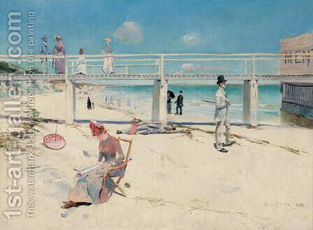 A Holiday at Mentone, 1888 by Charles Edward Conder - Reproduction Oil Painting