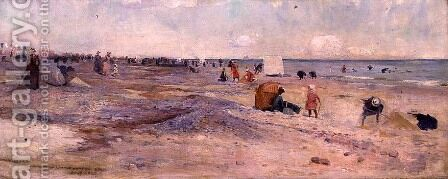 Sketch of Littlehampton Beach, 1890 by Charles Edward Conder - Reproduction Oil Painting