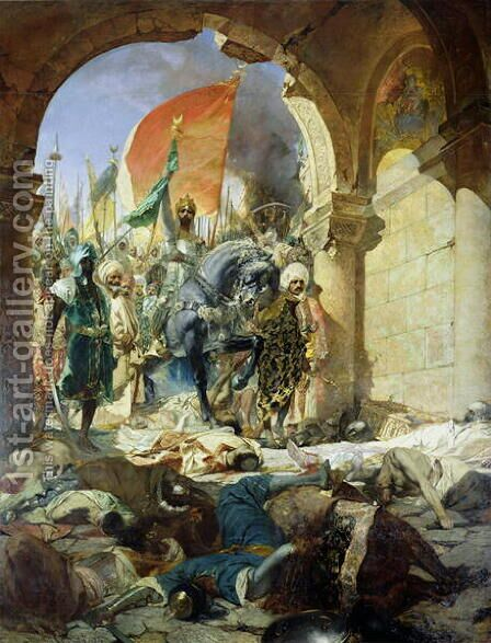Entry of the Turks of Mohammed II into Constantinople, 29th May 1453, 1876 by Benjamin Jean Joseph Constant - Reproduction Oil Painting