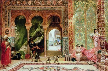 A Royal Palace in Morocco by Benjamin Jean Joseph Constant - Reproduction Oil Painting