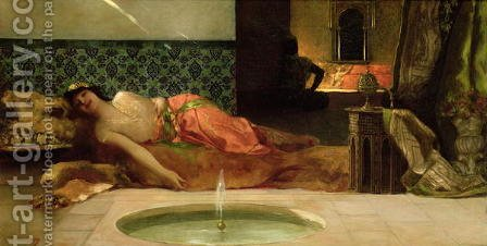 An Odalisque in a Harem by Benjamin Jean Joseph Constant - Reproduction Oil Painting