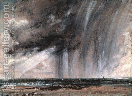 Rainstorm over the Sea, c.1824-28 by John Constable - Reproduction Oil Painting