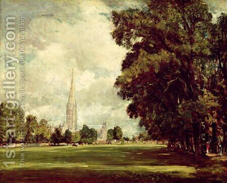 Salisbury Cathedral from Lower Marsh Close, 1820 by John Constable - Reproduction Oil Painting
