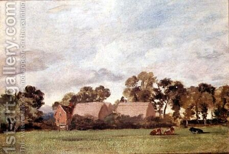 A Suffolk Landscape by John Constable - Reproduction Oil Painting