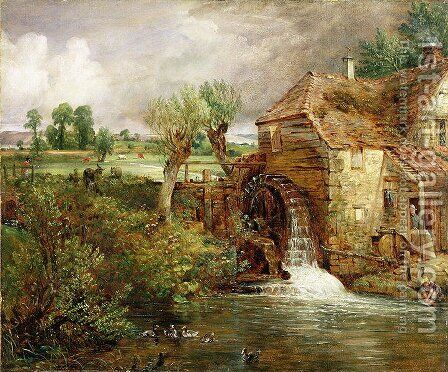 Mill at Gillingham, Dorset, 1825-26 by John Constable - Reproduction Oil Painting