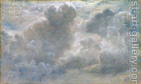 Study of Cumulus Clouds, 1822 (2) by John Constable - Reproduction Oil Painting