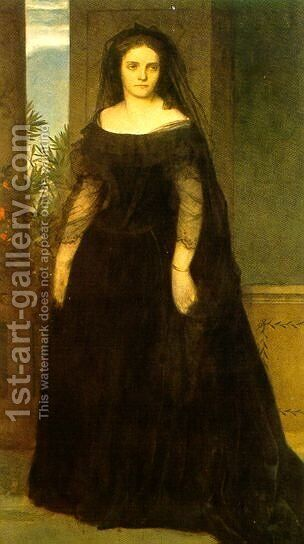 Bildnis der Tragodin Fanny Janouschek  1861 by Arnold Böcklin - Reproduction Oil Painting
