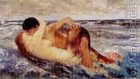 Naiad  1887 by Arnold Böcklin - Reproduction Oil Painting