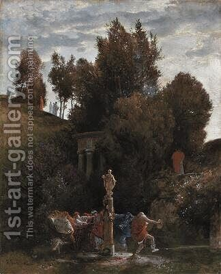 Roman May Festival c.1872 by Arnold Böcklin - Reproduction Oil Painting