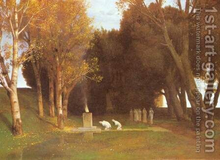 The Sacred Wood, 1882 by Arnold Böcklin - Reproduction Oil Painting