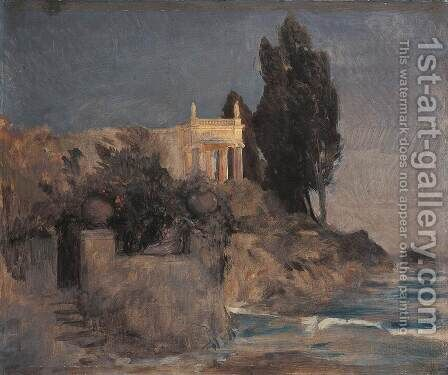 Villa by the Sea, c.1864 by Arnold Böcklin - Reproduction Oil Painting