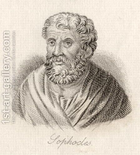 Sophocles by J.W. Cook - Reproduction Oil Painting
