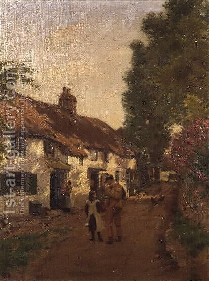 Home Along by J. Cooke - Reproduction Oil Painting