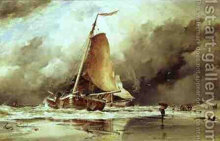 Seascape by Edward William Cooke - Reproduction Oil Painting