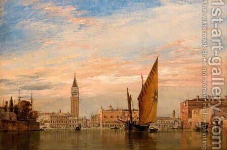 Venetian fishing craft caught in a Borasca in the Adriatic by Edward William Cooke - Reproduction Oil Painting