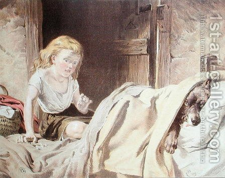 Illustration for Little Red Riding Hood by Alexander Davis Cooper - Reproduction Oil Painting