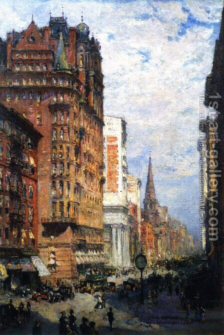 Fifth Avenue  New York City, 1906 by Colin Campbell Cooper - Reproduction Oil Painting